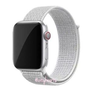 NEW Silver White Apple Watch Sport Loop Band